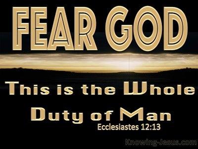Ecclesiastes 12:13 Fear God And Keep His Commandments (gold)