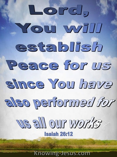 Isaiah 26:12 Your Will Establish Peace (blue)