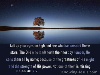 Isaiah 40:26 Inspirational Images