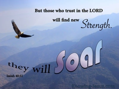 Isaiah 40:31 Those Who Trust In The Lord Will Soar (blue)