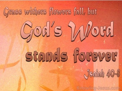 Isaiah 40:8 Flowers Fade But God's Word Stands Fast (pink)