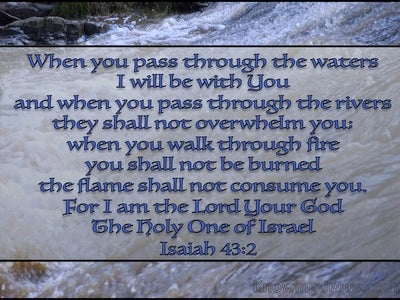 Isaiah 43:2 When You Pass Through The Waters (gray)