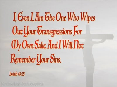 Isaiah 43:25 God Wipes Out Your Transgressions (gray)