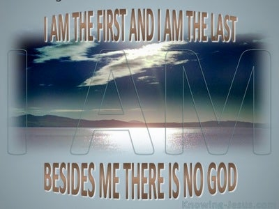 Isaiah 44:6 I AmThe First And The Last (gray)