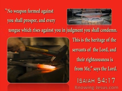 Isaiah 54:17 No Weapon Formed Against You Shall Prosper (red)