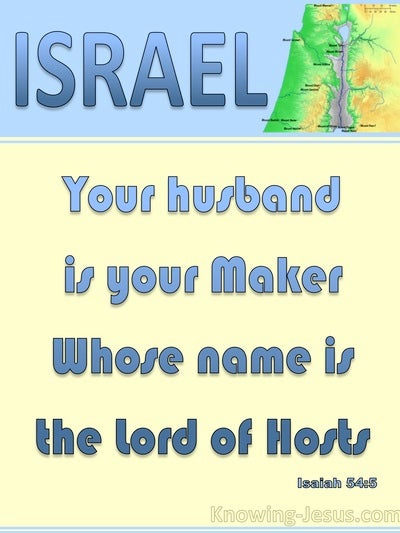 Isaiah 54:5 Your Husband Is Your Maker The Lord Of Hosts (blue)
