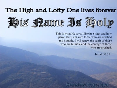 Isaiah 57:15 His Name Is Holy (blue)