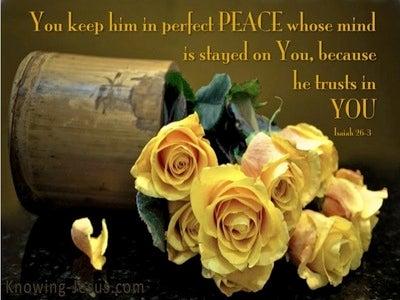 Isaiah 26:3 Perfect Peace (brown)