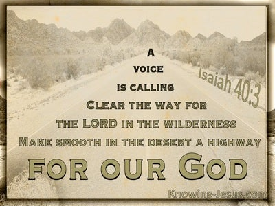 Isaiah 40:3 Prepare The Way Of The Lord (beige)