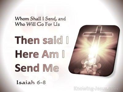 Isaiah 6:8 Whom Shall I Send (silver)