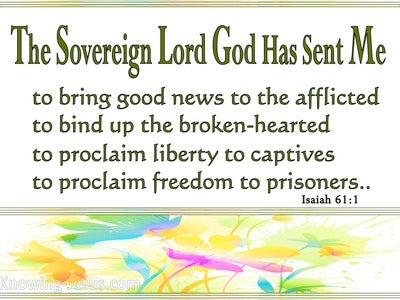 Isaiah 61:1 The Spirit Of The Lord God Is Upon Me (sage)