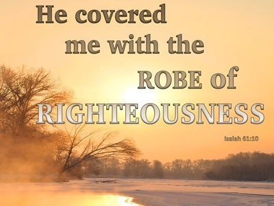Isaiah 61:10 We Will Greatly Rejoice In The Lord (beige)