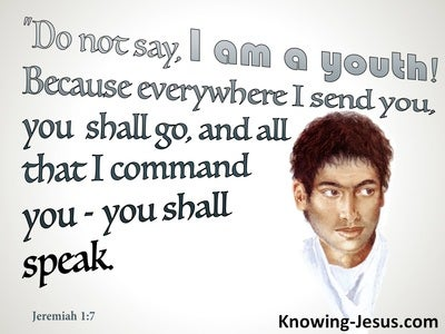 Jeremiah 1:7 All I Command You : You Shall Speak (gray)
