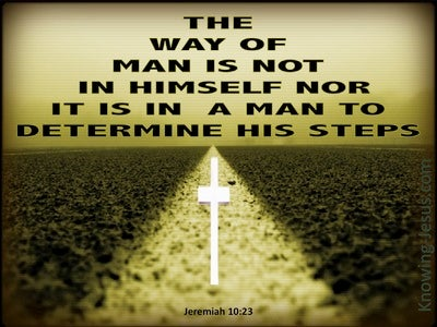 Jeremiah 10:23 The Way Of A Man (sage)