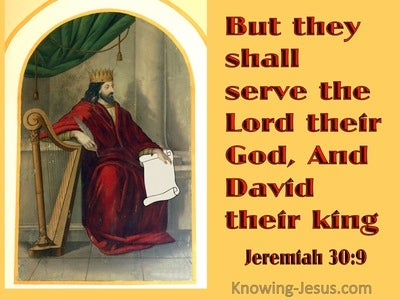Jeremiah 30:9 They Shall Serve The Lord Their God, And David Their King (yellow)