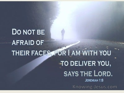 Jeremiah 1:8 Do Not Be Afraid Of Their Faces (navy)