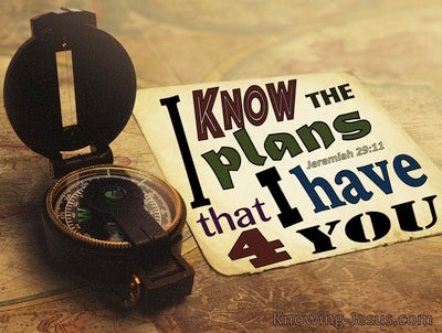 Jeremiah 29:11 The Plans I Have For You (cream)