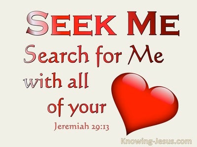 Jeremiah 29:13 Seek Me And Search For Me With All Your Heart (beige)