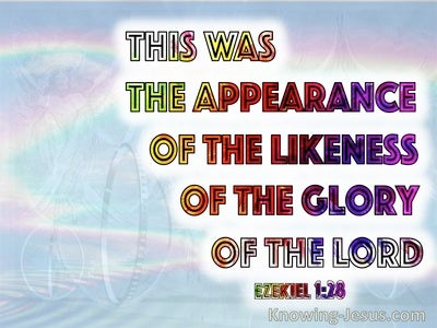 Ezekiel 1:28 It Was The Appearance Of The Likeness Of The Glory Of The Lord (red)