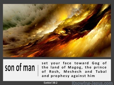 Ezekiel 38:2 Set Your Face Toward Gog Of The Land Of Magog (white)