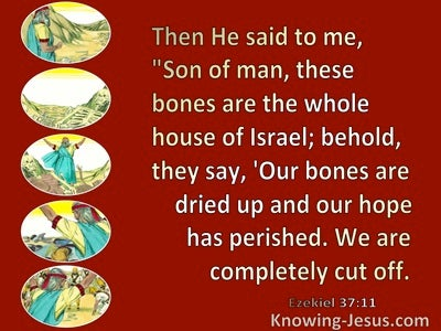 Ezekiel 37:11 Our Bones Are Dry  (red)