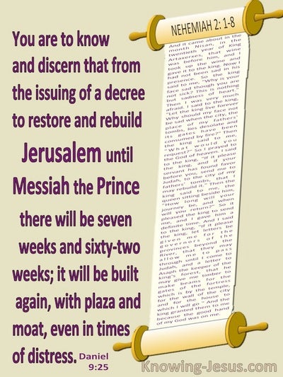 Daniel  9-25 From The Issuing Of A Decree To Rebuild Jerusalem (beige)