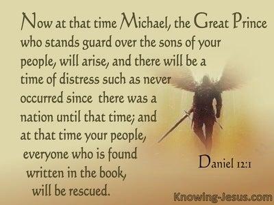 Daniel 12:1 Michael The Great Prince Of Israel (brown)
