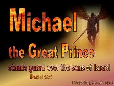 Daniel 12:1 Michael The Great Prince Of Israel (orange)