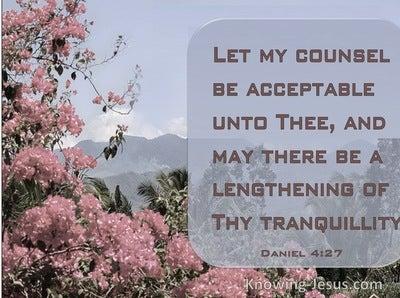 Daniel 4:27 God, My Tranquility (devotional)02:17 (pink)