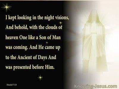 Daniel 7:13 One Like A Son Of Man (black)