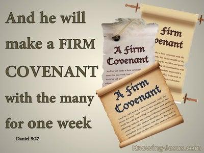 Daniel 9:27  A Firm Covenant (beige)