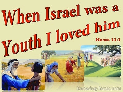 Hosea 11:1 Out Of Egypt I Called My So (red)