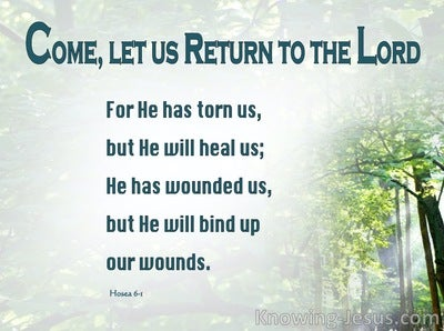 Hosea 6:1 Come, Let Us Return To The Lord (green)