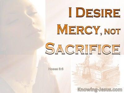 Hosea 6:6 God Desires Mercy Not Sacrifice (orange)