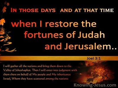 Joel 3:1 In The Day Of The Lord I Will Restore The Fortune Of Judah (yellow)