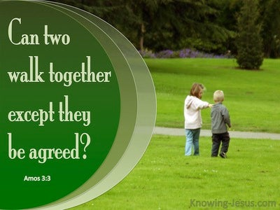 Amos 3:3 Can Two Walk Together (green)
