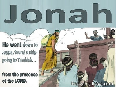 Jonah 1:3 Jonah Went From The Presence Of The Lord (sage)