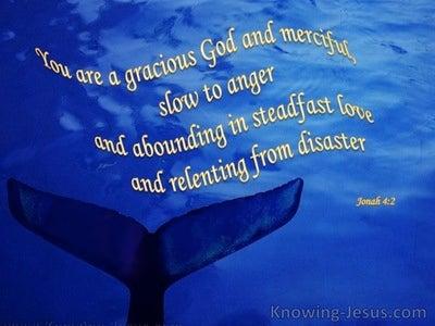 Jonah 4:2 God is Gracious (blue)