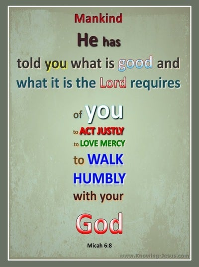 Micah 6:8 What God Requires (sage)