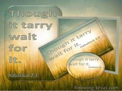 Habakkuk 2:3 Though It Tarry Wait For It (utmost)05:02