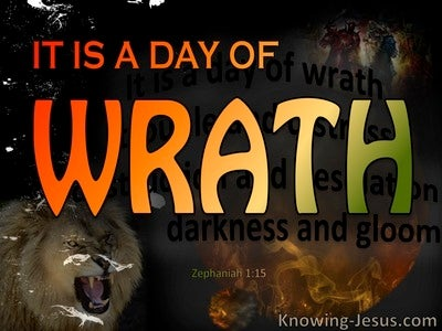 Zephaniah 1:15 A Day Of Wrath (black)