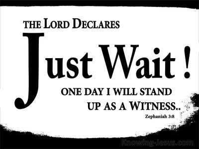 Zephaniah 3:8 The Lord Declares Just Wait (white)