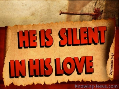 Zephaniah 3:17 God Is Silent In His Love (red)