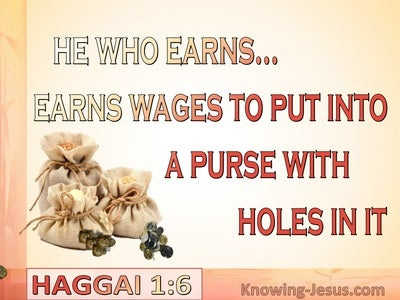 Haggai 1:6 Your Sow Much But Harvest Little (cream)
