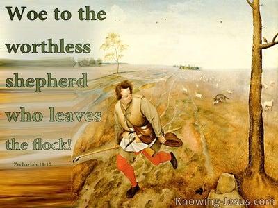 Zechariah 11:17 Woe To The Worthless Shepherd (green)