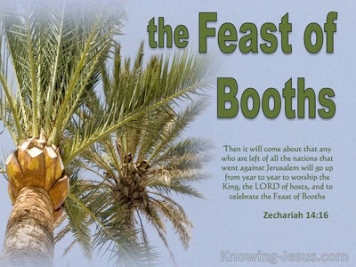 Zechariah 14:16 The Nations Will Go Up From Year To Year (green)