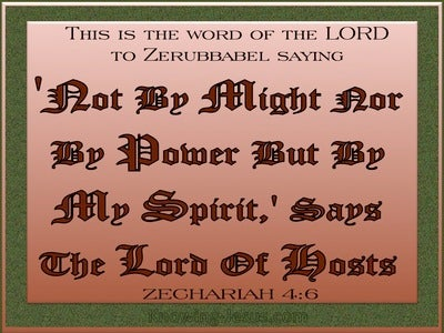 Zechariah 4:6  By My Spirit Says The Lord (brown)
