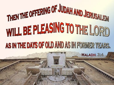 Malachi 3:4 The Offering Of Judah And Jerusalem Will Be Pleasant (red)