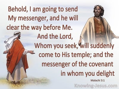 Malachi 3:1 The Lord Will Suddenly Come To His Temple (brown)
