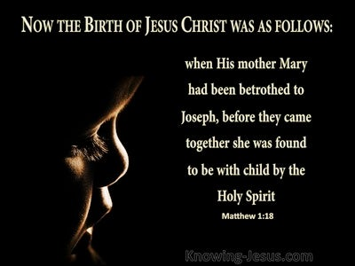 Matthew 1:18 She Was Found To Be With Child (black)